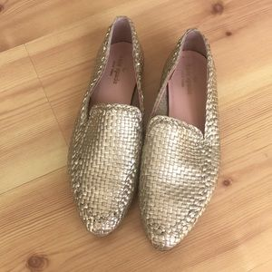 Kate Spade Leather Weaved Loafers